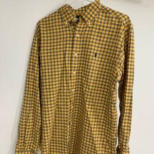 Ralph Lauren Men's Button Up Collard Short Medium